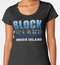 Block Island, Rhode Island Background Women's Premium T-Shirt