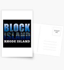 Block Island, Rhode Island Background Postcards