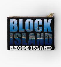 Block Island, Rhode Island Background Studio Pouch