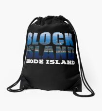 Block Island, Rhode Island Background Drawstring Bag