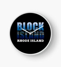 Block Island, Rhode Island Background Clock