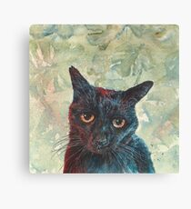 Pooky the Black Cat Canvas Print