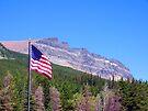 Glacier Patriotic Mountain by Tamara Valjean