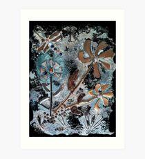 STEAMPUNK FLOWERS Art Print