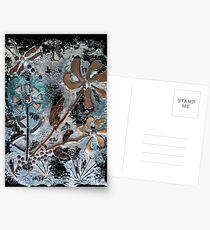 STEAMPUNK FLOWERS Postcards