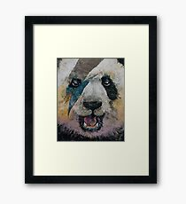 Panda Rock Framed Print