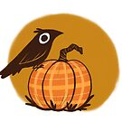 Crow and Pumpkin by katiecrumpton