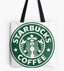 Starbucks Logo Drawing Tote Bags
