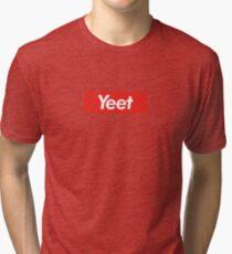 Yeet/Supreme Logo Parody Tri-blend T-Shirt