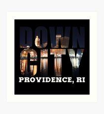 Downcity Providence, Rhode Island Art Print