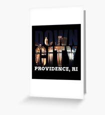 Downcity Providence, Rhode Island Greeting Card