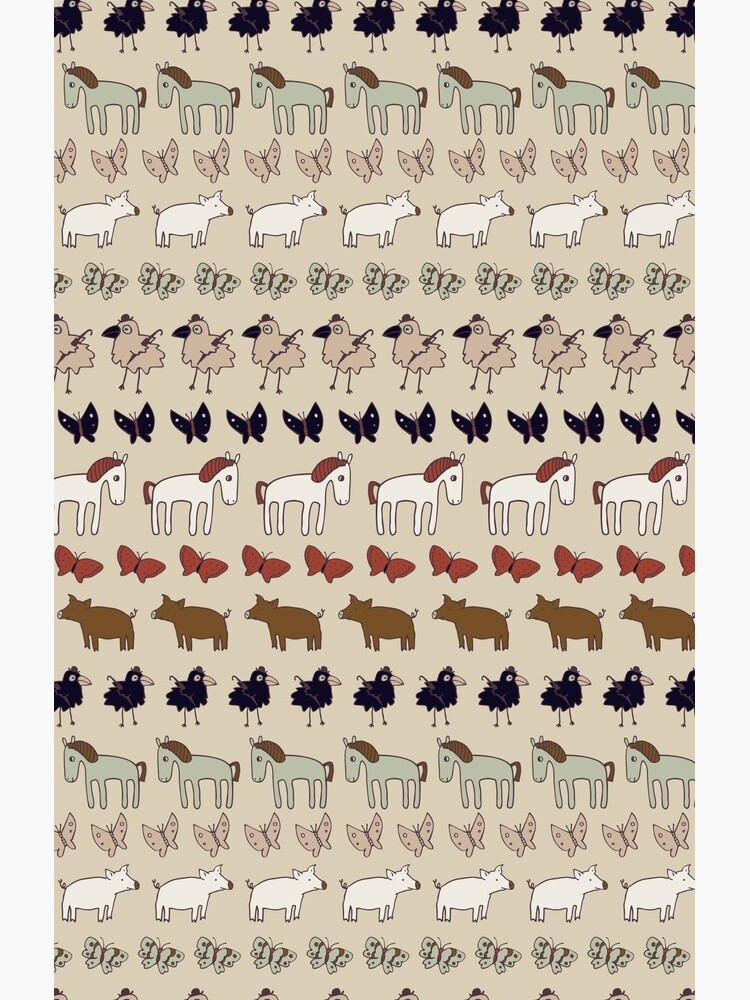 Striped Pigs and Ponies - Clay - cute, fun pattern by Cecca Designs by Cecca-Designs