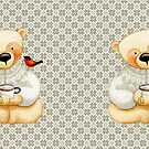 Tea Drinking Teddy Bear by beelissa