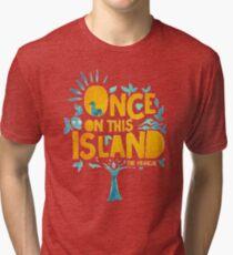 Camiseta de tejido mixto Una vez en esta isla