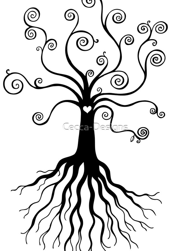 Tree of Life - black and white by Cecca Designs by Cecca-Designs