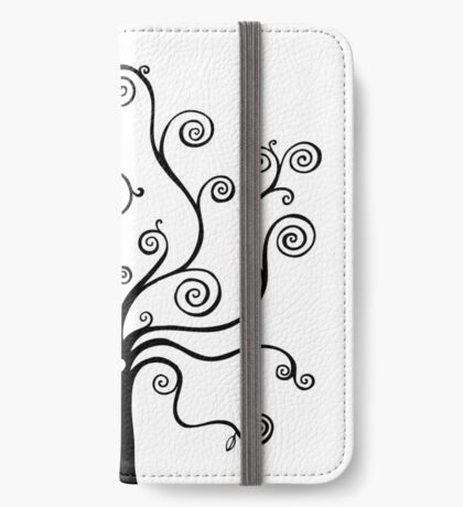 Tree of Life - black and white by Cecca Designs iPhone Wallet
