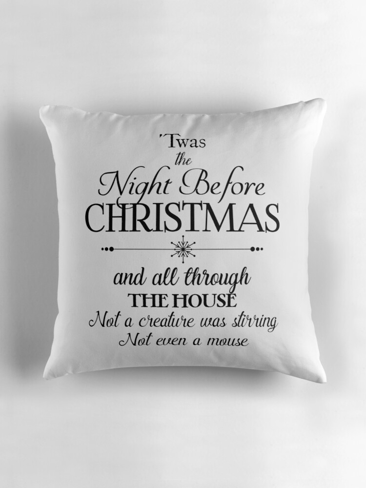 Quot Twas The Night Before Christmas Quot Throw Pillows By Jenn
