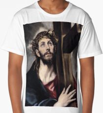 Jesus Carrying The Cross Long T-Shirt