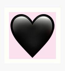5cb395ac6c1b Black Heart Emoji Wall Art