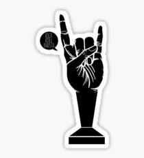 All Black Rock 'n Roll Barista Sticker