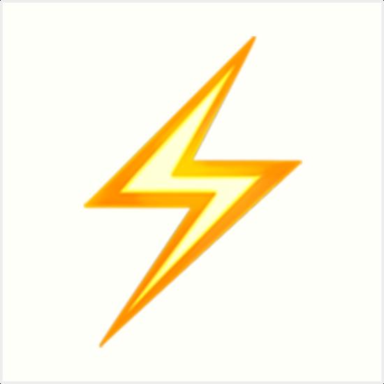 Lightning Bolt Emoji Art Prints By Emojiqueen