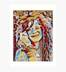 JANIS JOPLIN ART Art Print