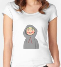 my phone keeps cropping things on its own Women's Fitted Scoop T-Shirt