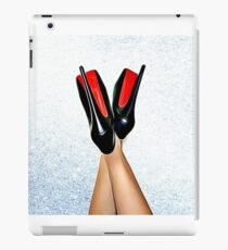 Christian Louboutin Sexy High Heel Red Bottoms Heels Up iPad Case/Skin