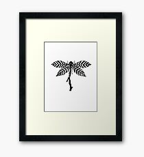 Dragonfly twig Framed Print