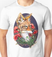A Jackal and Poppies T-Shirt