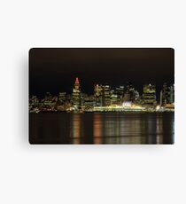 Downtown of Vancouver City  night time Canvas Print