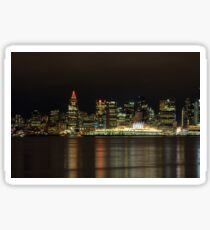 Downtown of Vancouver City  night time Sticker