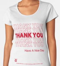 plastic bag shirt - thank you Women's Premium T-Shirt