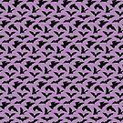 Bat Pattern -  Purple by lisabdesign