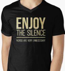 ENJOY THE SILENCE Men's V-Neck T-Shirt
