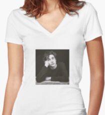 Camiseta entallada de cuello en V Timothée Chalamet