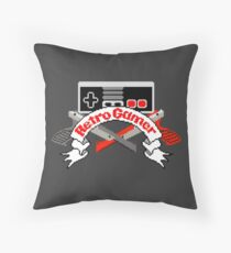 Retro Gamer Throw Pillow