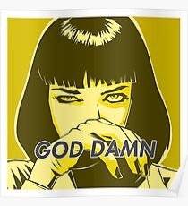 Pulp Fiction - Mia Wallace Poster