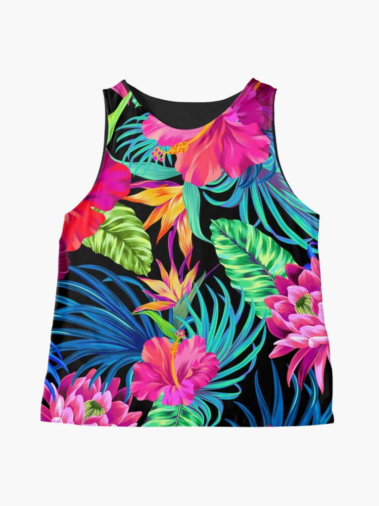 Alternate view of Drive You Mad Hibiscus Pattern Sleeveless Top