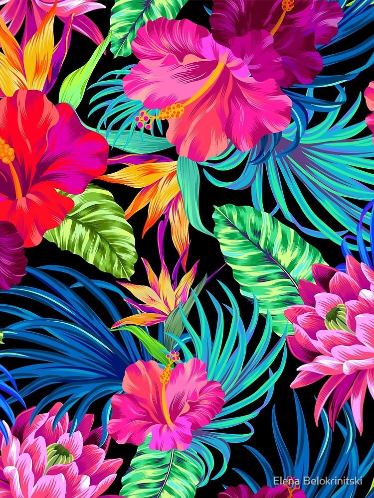Fahren Sie Mad Hibiscus Pattern von belokrinitski