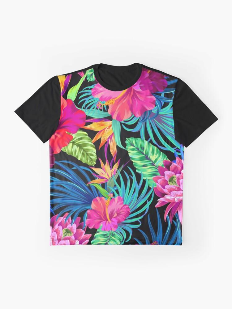 Alternative Ansicht von Fahren Sie Mad Hibiscus Pattern Grafik T-Shirt