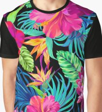 Camiseta gráfica Drive You Mad Hibiscus Pattern