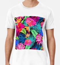 Drive You Mad Hibiscus Pattern Men's Premium T-Shirt