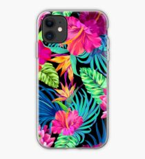 Fahren Sie Mad Hibiscus Pattern iPhone-Hülle & Cover