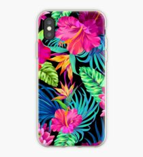 Drive You Mad Hibiscus Pattern iPhone Case
