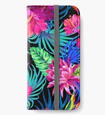 Fahren Sie Mad Hibiscus Pattern iPhone Flip-Case/Hülle/Klebefolie