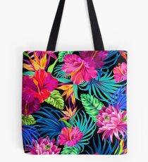 Fahren Sie Mad Hibiscus Pattern Tote Bag