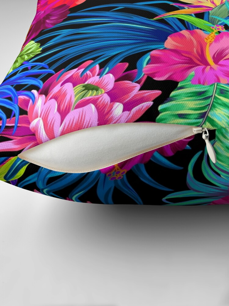 Alternate view of Drive You Mad Hibiscus Pattern Throw Pillow