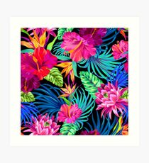 Drive You Mad Hibiscus Pattern Art Print
