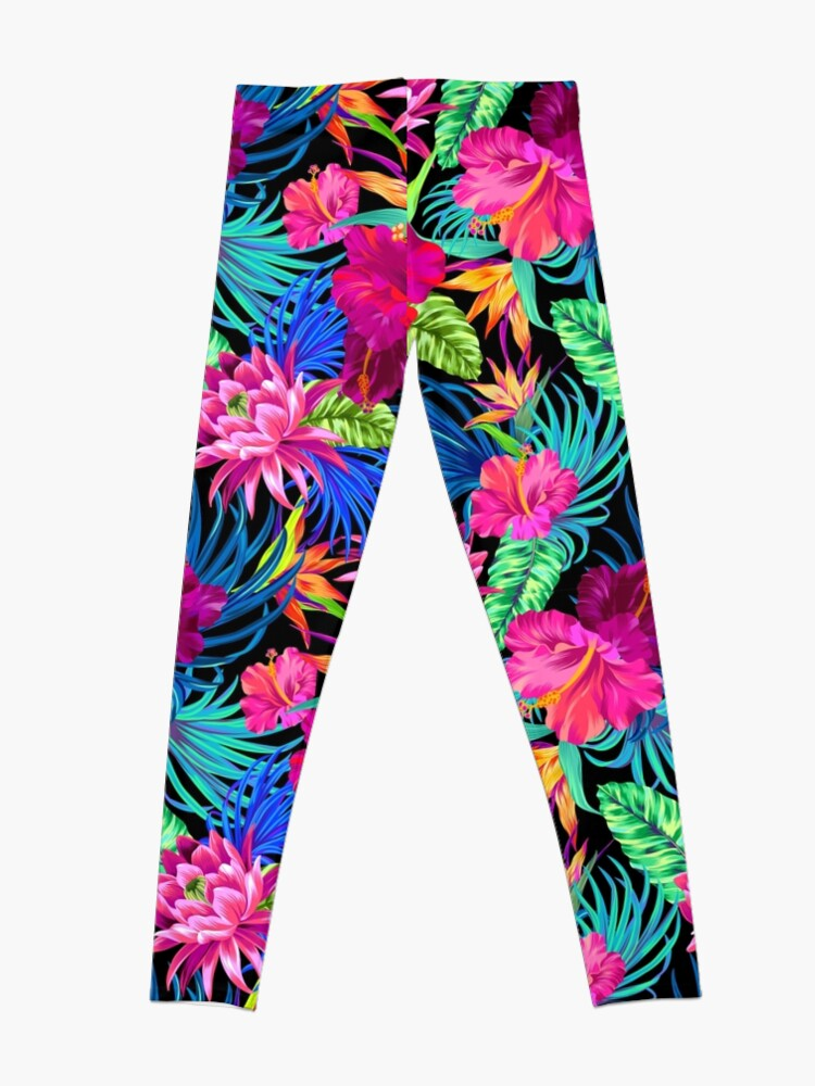 Alternate view of Drive You Mad Hibiscus Pattern Leggings